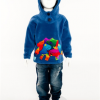Hooded Dinosaur Top (Blue)
