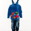 Hooded Dinosaur Top (Blue)