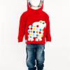 Hooded Spotted Sheep Top (Red)