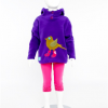 Hooded Top with Bird (Purple)