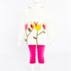 Hooded Tulips Top (Cream)