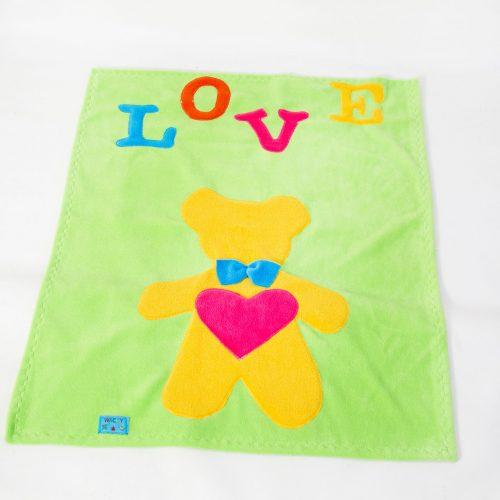 Lime Teddy Bear Baby Wrap Blanket