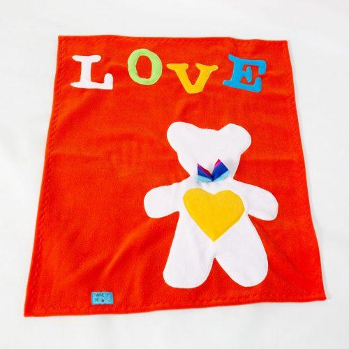 Orange Teddy Bear Baby Wrap Blanket