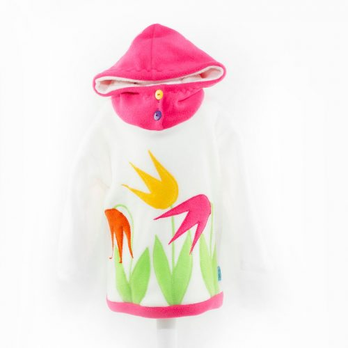 Children's Cream Tulip Hooded Top