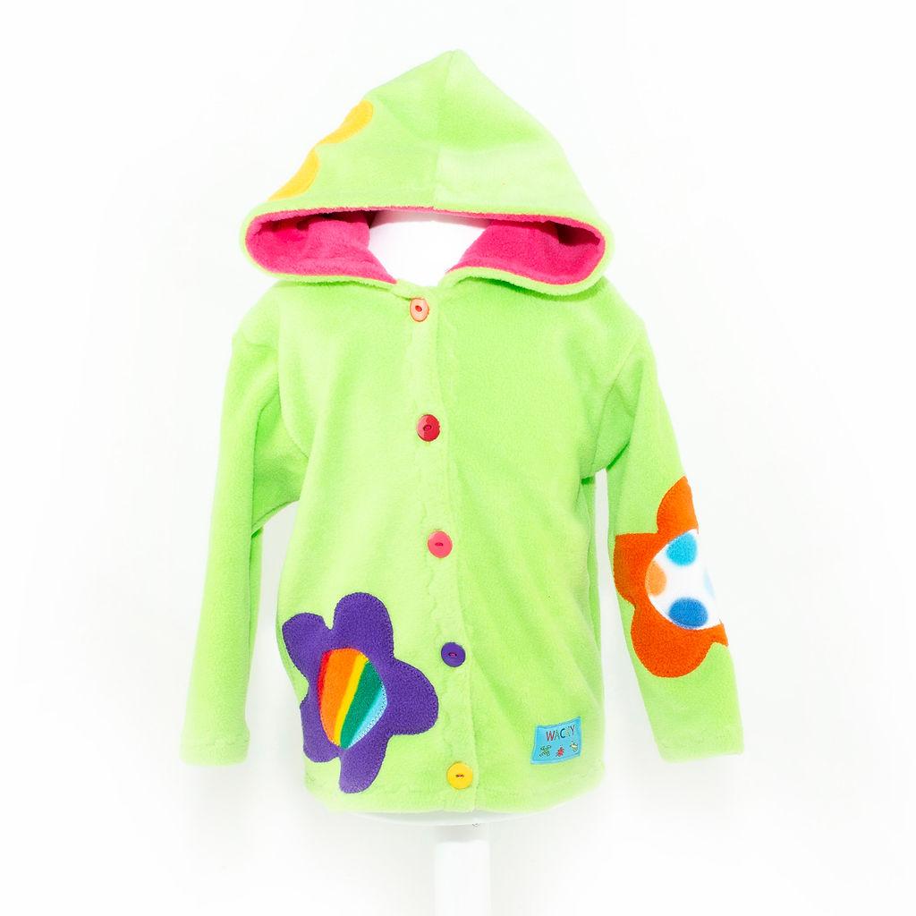 Children's Lime Flower Hooded Jacket