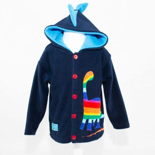 Children's Navy Dinosaur Hooded Jacket