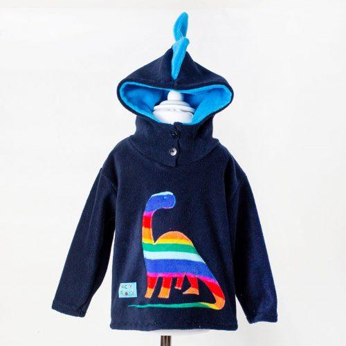Children's Navy Dinosaur Hooded Top