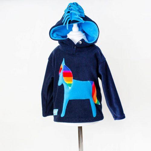 Children's Navy Horse Hooded Top