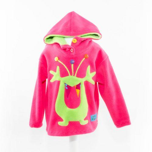 Children's Pink Alien Hooded Top