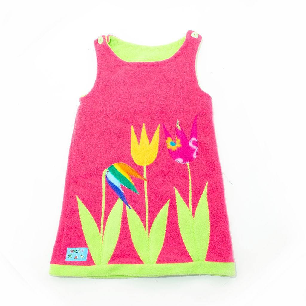 Children's Pink Tulip Pinafore