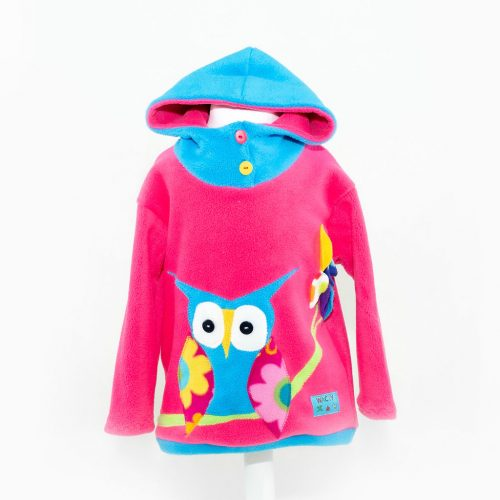 Children's Pink with Owl Hooded Top