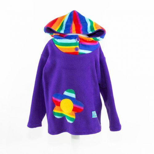 Children's Rainbow & Purple Funky Hooded Top