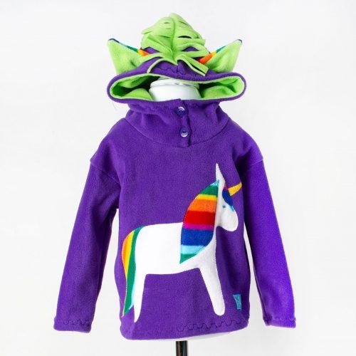 Children's Purple Unicorn Hooded Top