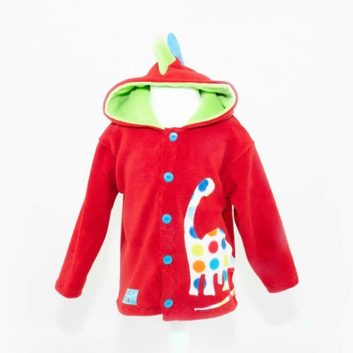 Children's Red Dinosaur Hooded Jacket