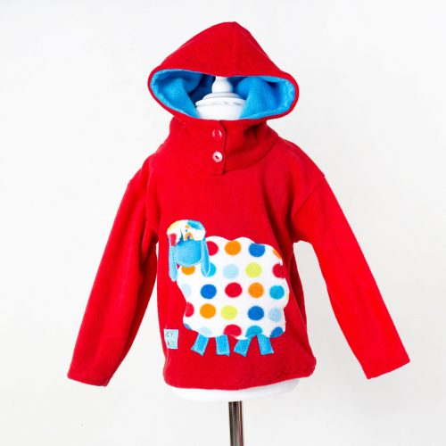 Children's Red Sheep Hooded Top