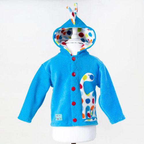 Turquoise Children's Dinosaur Hooded Jacket