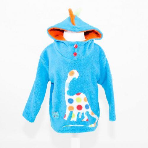 Turquoise Children's Dinosaur Hooded Top